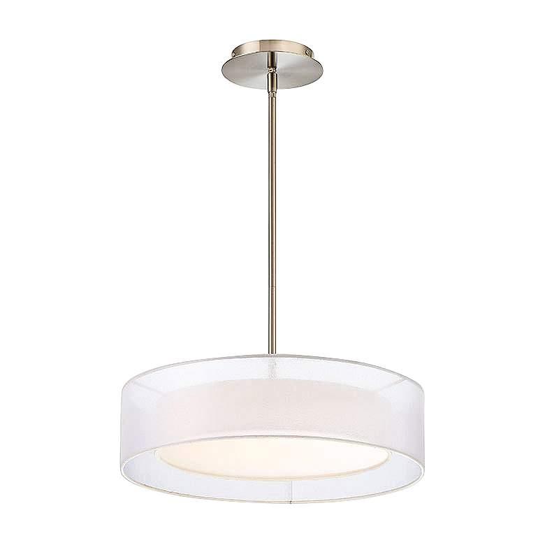 "Metropolis 18"" Wide Brushed Nickel LED Pendant Light"