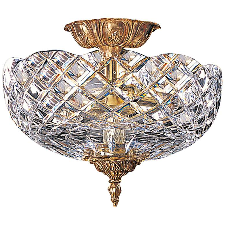 """Crystorama Ceiling Mount 12"""" Wide Olde Brass Ceiling Light"""