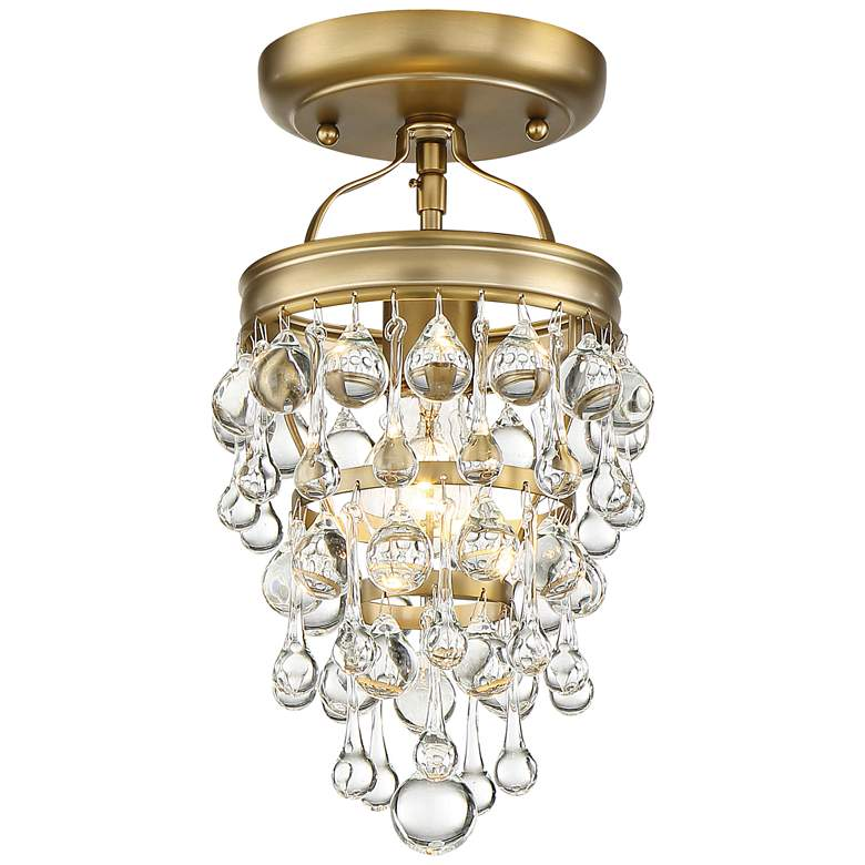 "Crystorama Calypso 7 1/2"" Wide Vibrant Gold Ceiling Light"