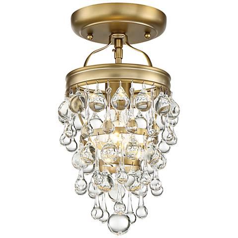 "Crystorama Calypso 7 1/2"" Wide Vibrant Gold Ceiling Light"
