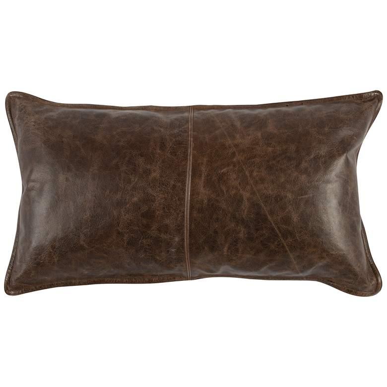 """Montana Leather 26"""" x 14"""" Throw Pillow"""
