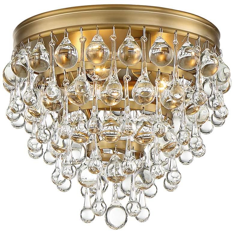 "Crystorama Calypso 10"" Wide Vibrant Gold Ceiling Light"