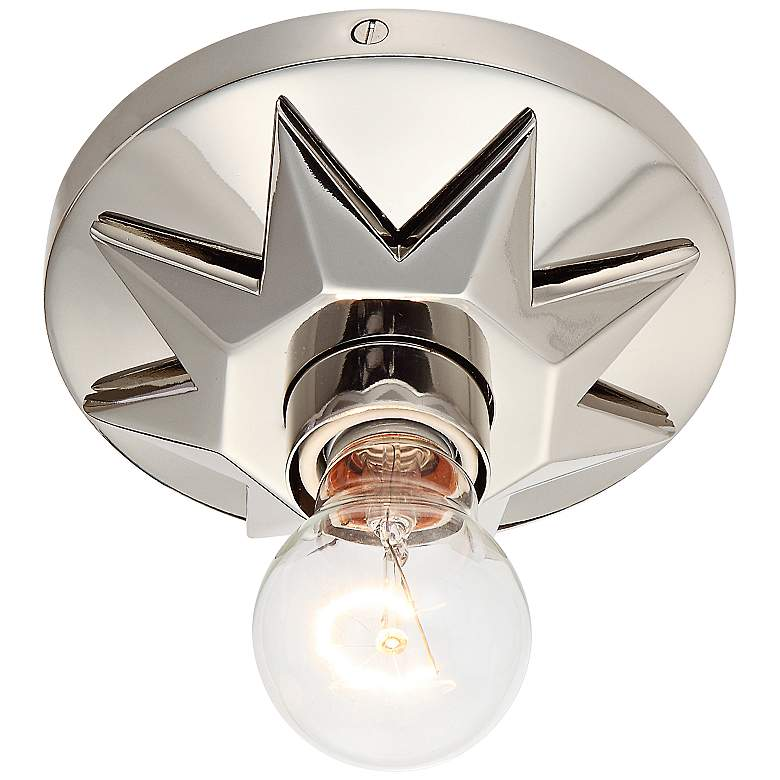 """Crystorama Carson 5"""" Wide Polished Nickel Ceiling Light"""