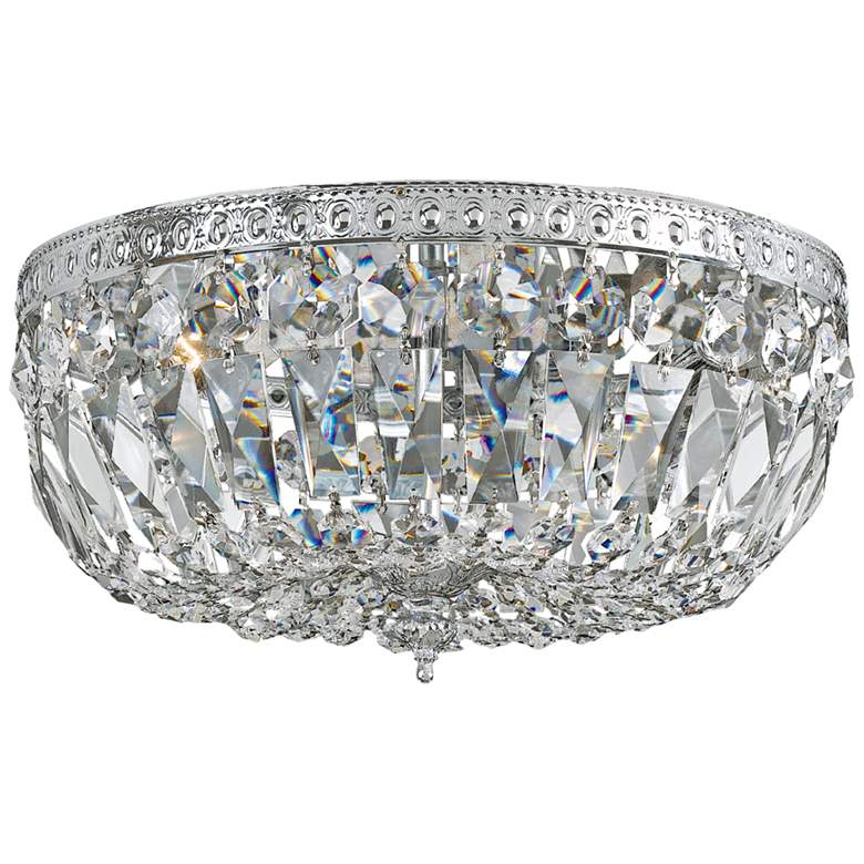 """Crystorama Ceiling Mount 14"""" Wide Chrome Ceiling Lt"""