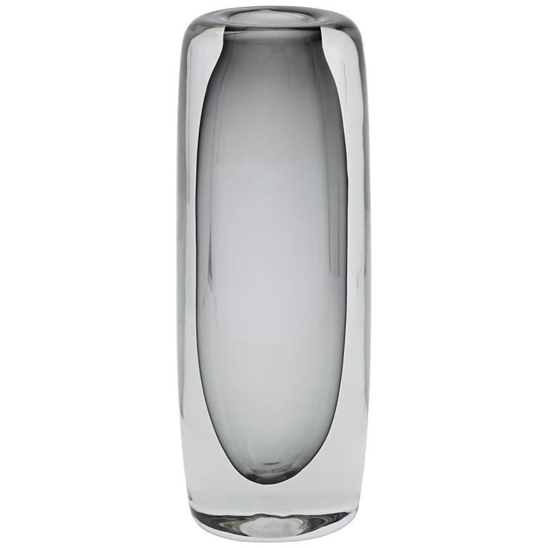 "Glenn 13"" High Double Layer Gray Glass Vase"