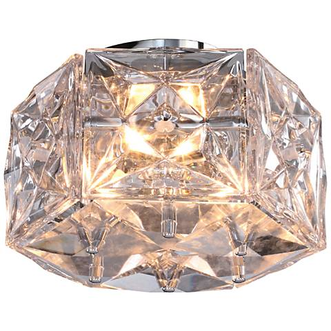 """Collins 13"""" Wide Clear Glass Ceiling Light by Crystorama"""