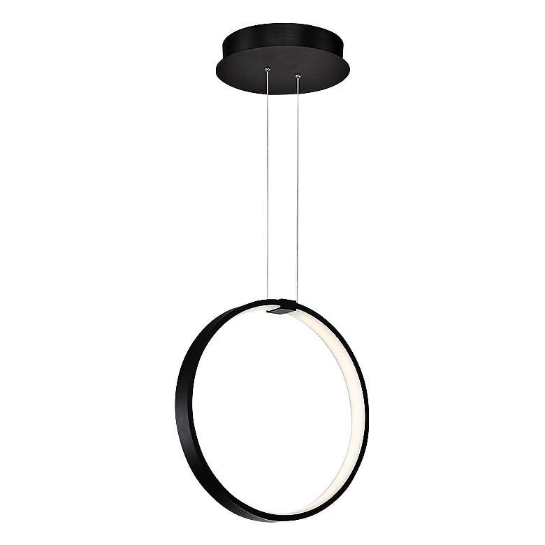 """Modern Forms Rings 18 1/2"""" Wide Black LED Pendant Light"""
