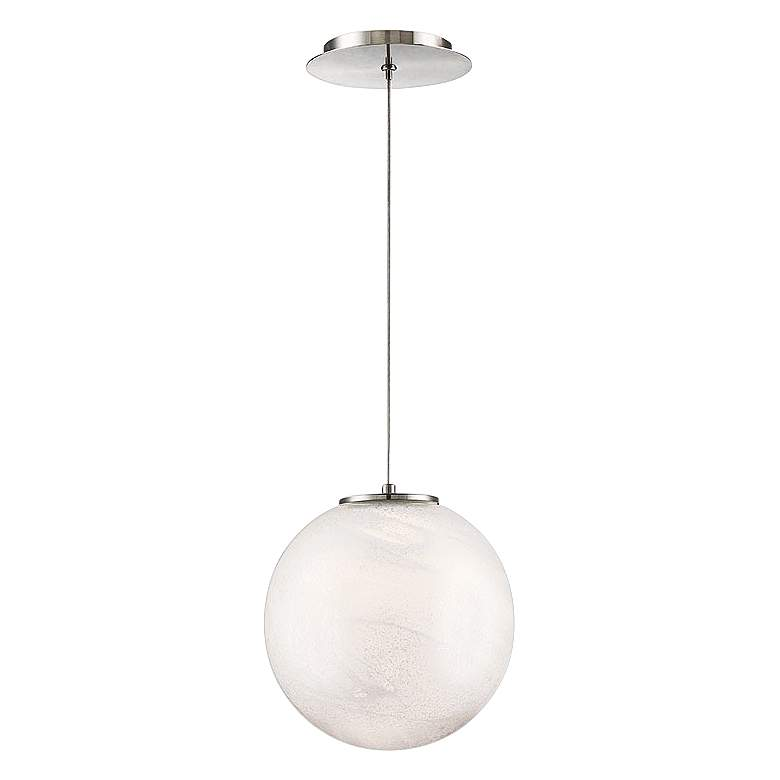 """Modern Forms Cosmic 9"""" Wide Brushed Nickel LED Mini Pendant"""