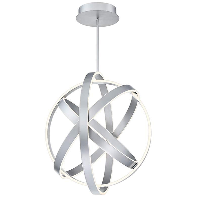 "Modern Forms Kinetic 28"" Wide Titanium 4-Light LED Pendant"