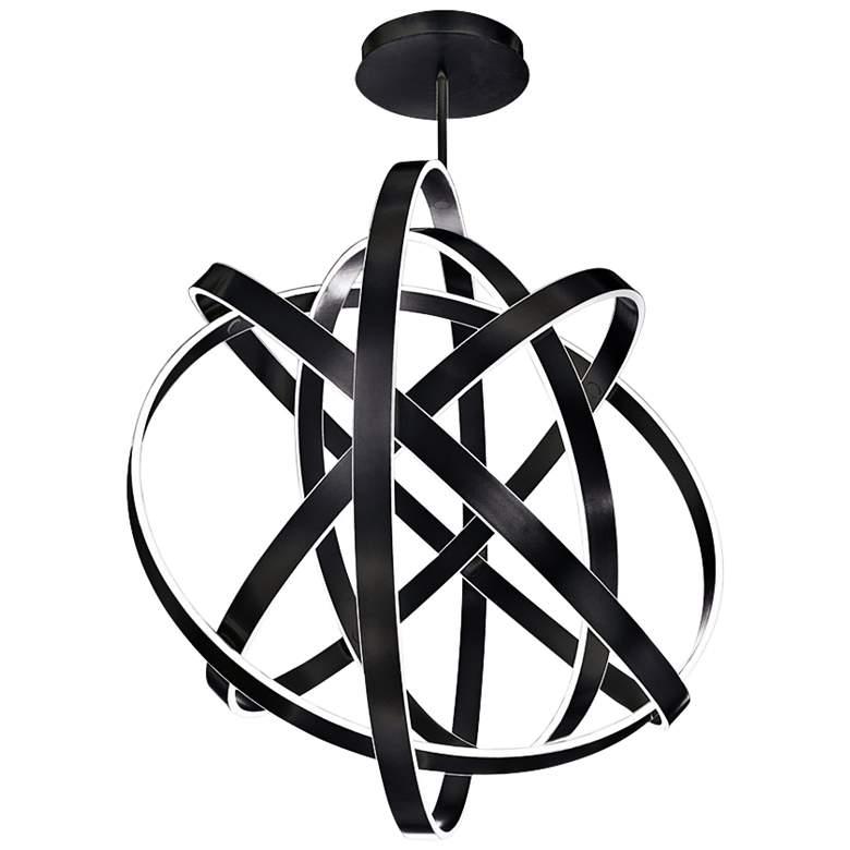 "Modern Forms Kinetic 60"" Wide Black 5-Light LED Pendant"