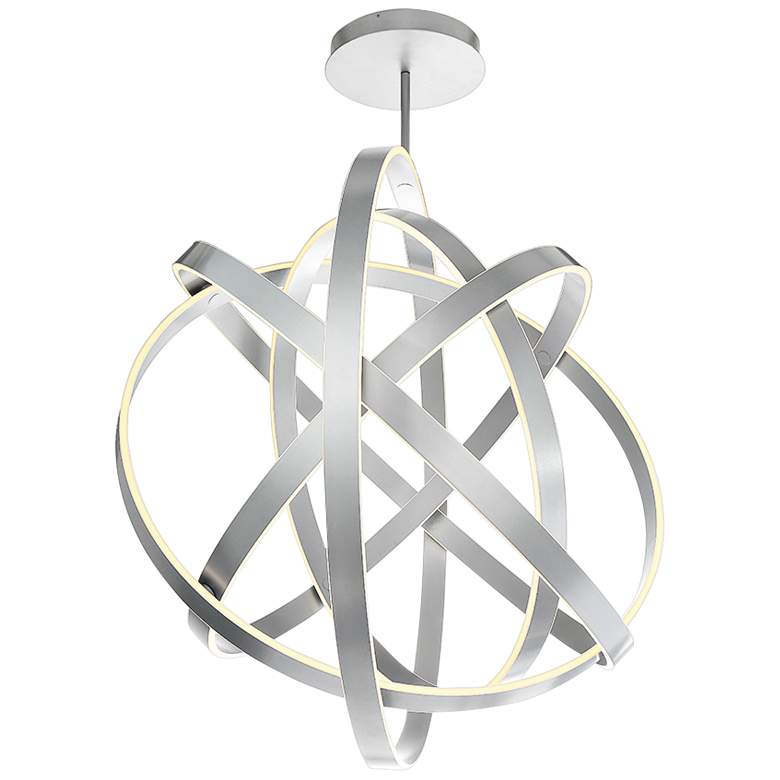 "Modern Forms Kinetic 60"" Wide Titanium 5-Light LED Pendant"