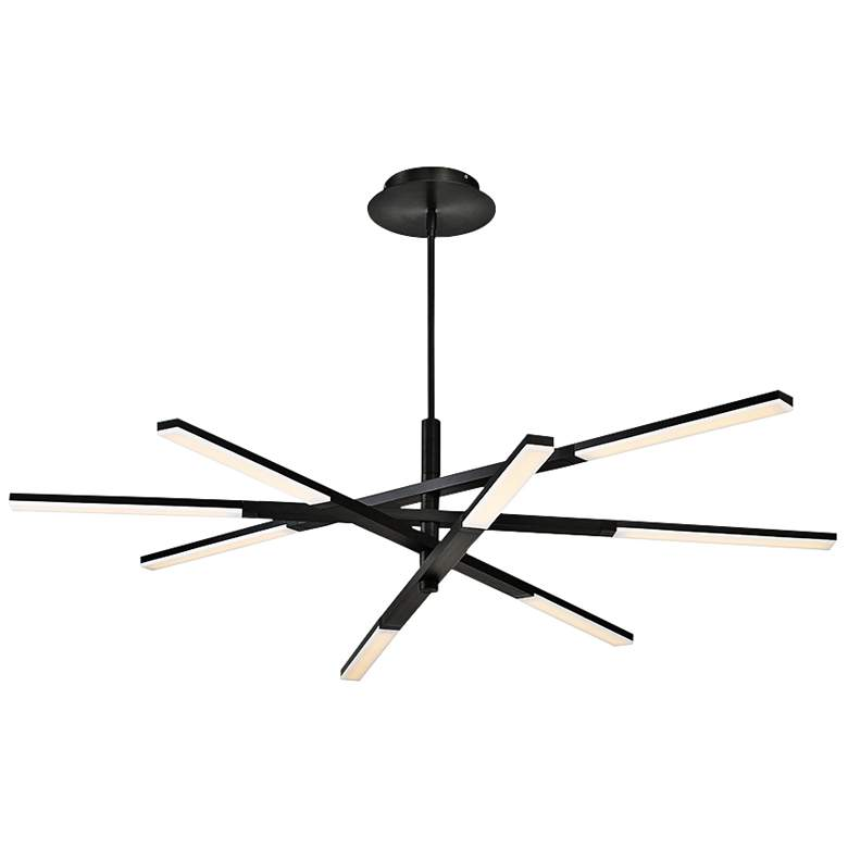 "Modern Forms Stacked 48"" Wide Black 8-Light LED Chandelier"