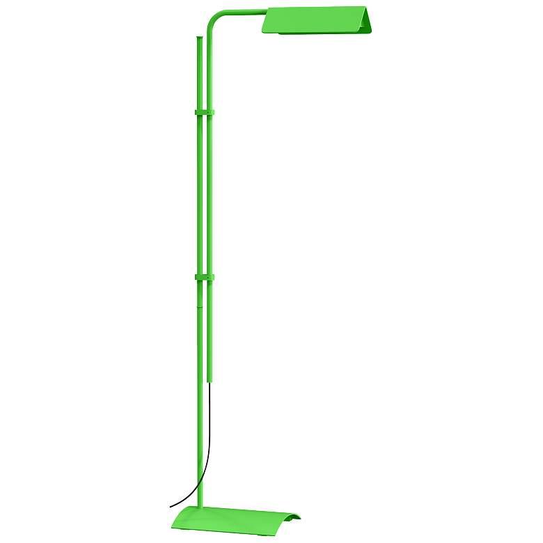 Sonneman Morii Satin Green Adjustable LED Floor Lamp