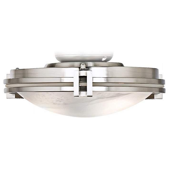 Marbleized Glass Brushed Nickel Led Ceiling Fan Light Kit 55n63 Lamps Plus