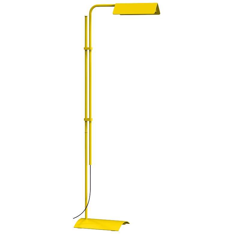 Sonneman Morii Satin Yellow Adjustable LED Floor Lamp