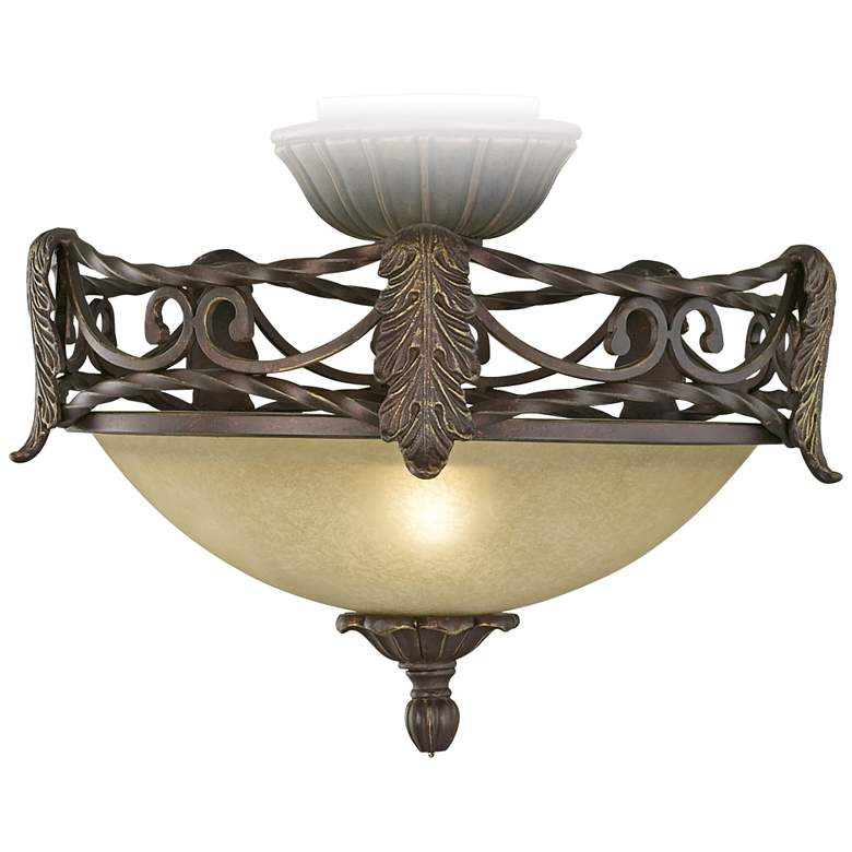 Acanthus Scavo Glass Pull-Chain LED Ceiling Fan Light Kit