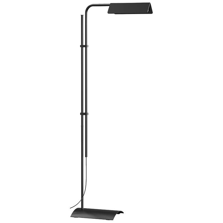 Sonneman Morii Satin Black Adjustable LED Floor Lamp