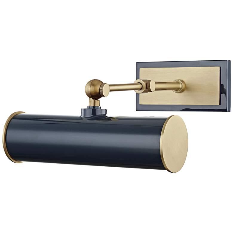 "Mitzi Holly 8 1/4"" Wide Brass Navy Plug-In"