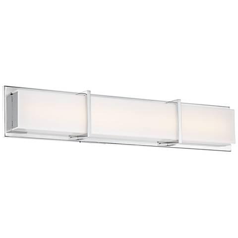 """Ratio 30"""" Wide Chrome and Acrylic LED Bath Light"""