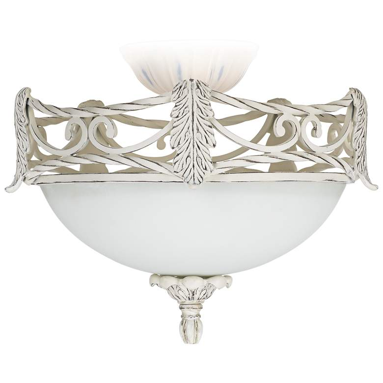 LED Acanthus Leaf Etched Glass Ceiling Fan Light