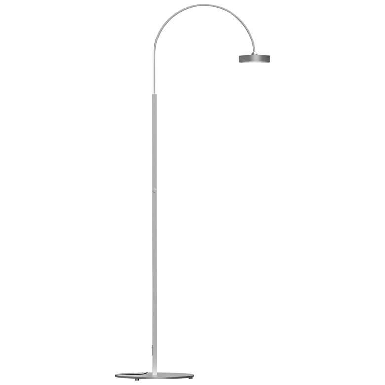 Pluck™ Satin Aluminum Small Adjustable LED Arc Floor