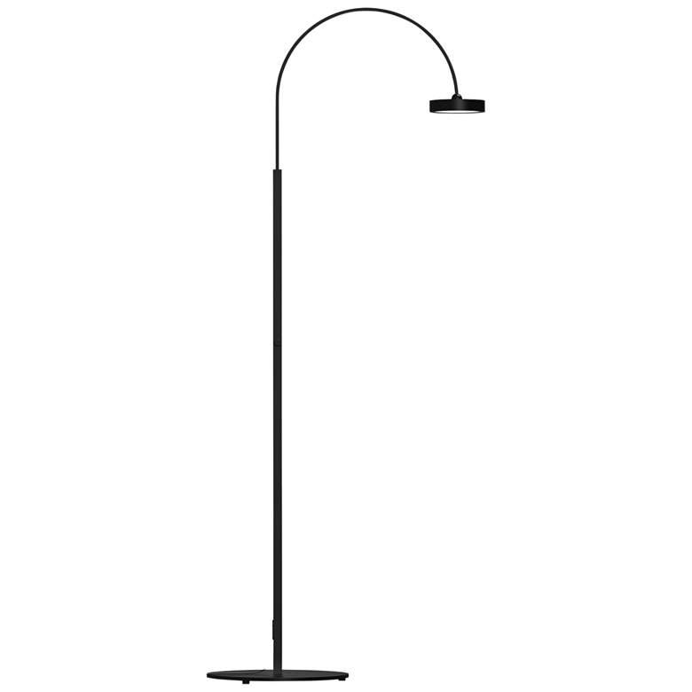 Pluck™ Satin Black Small Adjustable LED Arc Floor Lamp