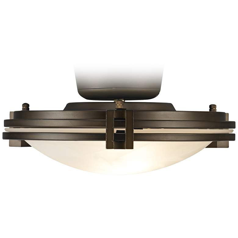 Alabaster Glass Oil-Rubbed Bronze Pull Chain LED Light