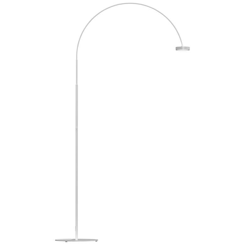Sonneman Pluck Satin White LED Modern Arc Floor Lamp