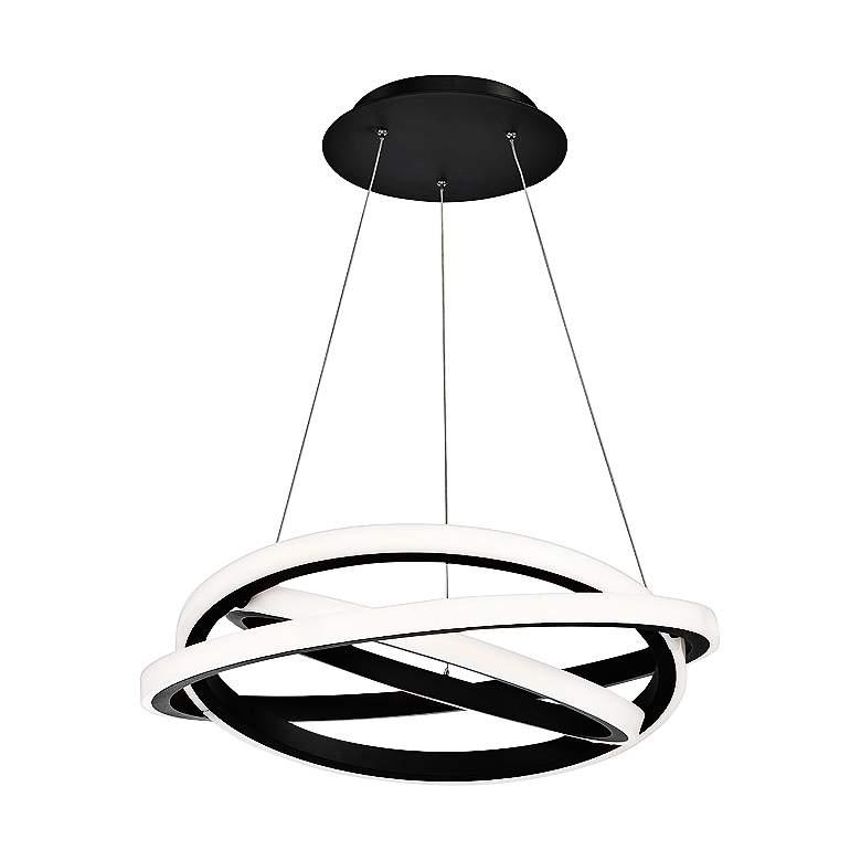 "Modern Forms Veloce 26"" Wide Black 3-Light LED Pendant"