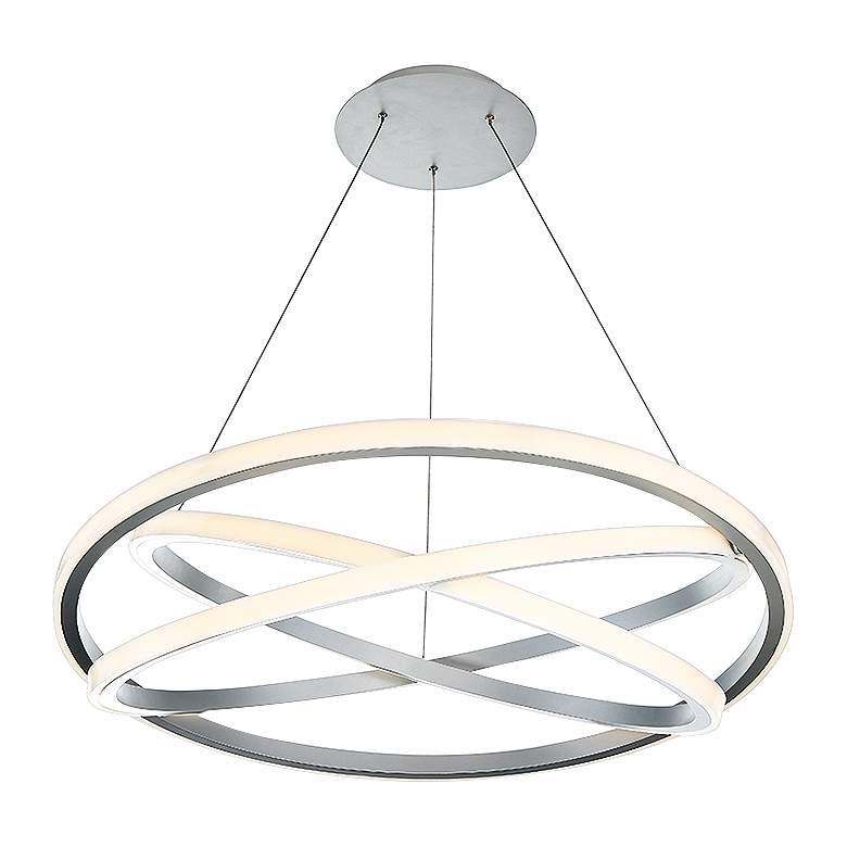 "Modern Forms Veloce 38"" Wide Titanium 3-Light LED"