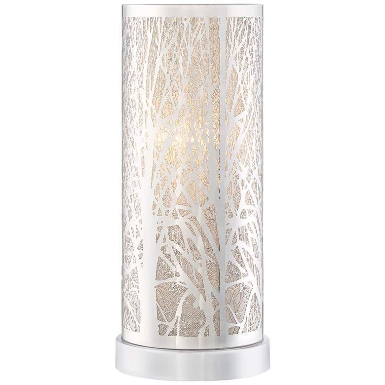 """Orin 12 1/4"""" High Metal and Glass Accent Table Lamp"""