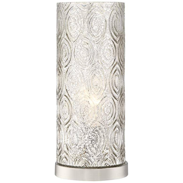 "Glenda 14 1/4"" High Metal and Glass Accent Table Lamp"