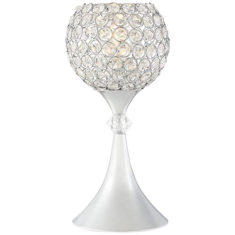 """Janet 13"""" High Metal and Glass Accent Table Lamp"""
