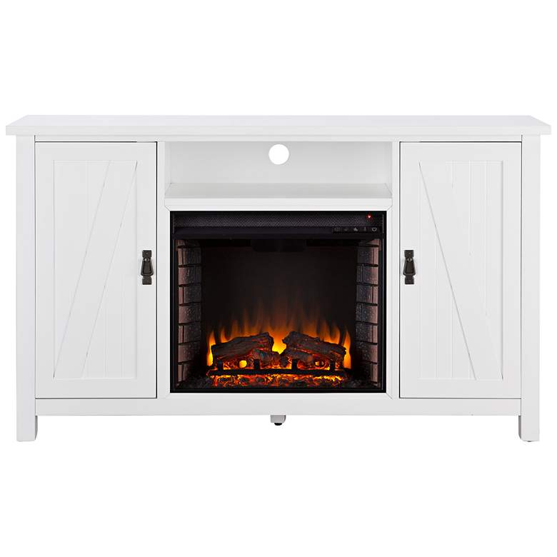 Cool Adderly White Wood 2 Door Electric Fireplace Tv Stand Interior Design Ideas Gentotthenellocom