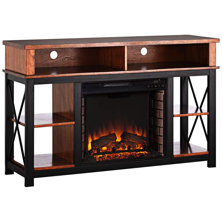 Edwards Dark Sienna Electric Fireplace TV/Media Stand