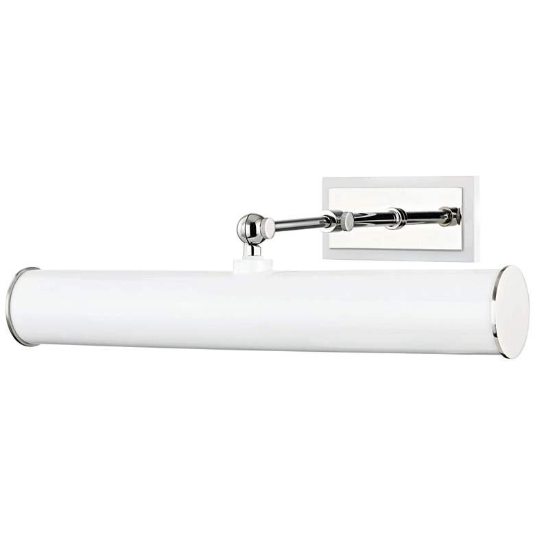 "Mitzi Holly 16 1/4""W Polished Nickel and White Picture Light"