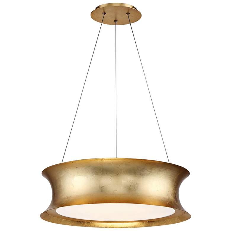 "Modern Forms Tango 20"" Wide Gold Leaf LED Pendant Light"