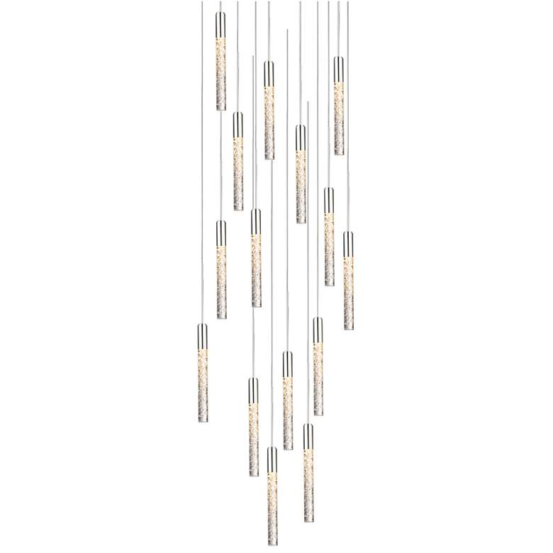 "Magic 23""W Polished Nickel 15-Light LED Multi Light"