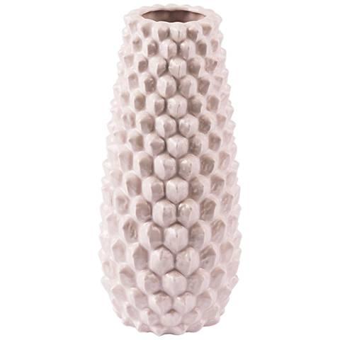 "Zuo Roco Pink 13"" High Medium Ceramic Vase"
