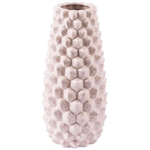 "Zuo Roco Pink 10 1/2"" High Small Ceramic Vase"