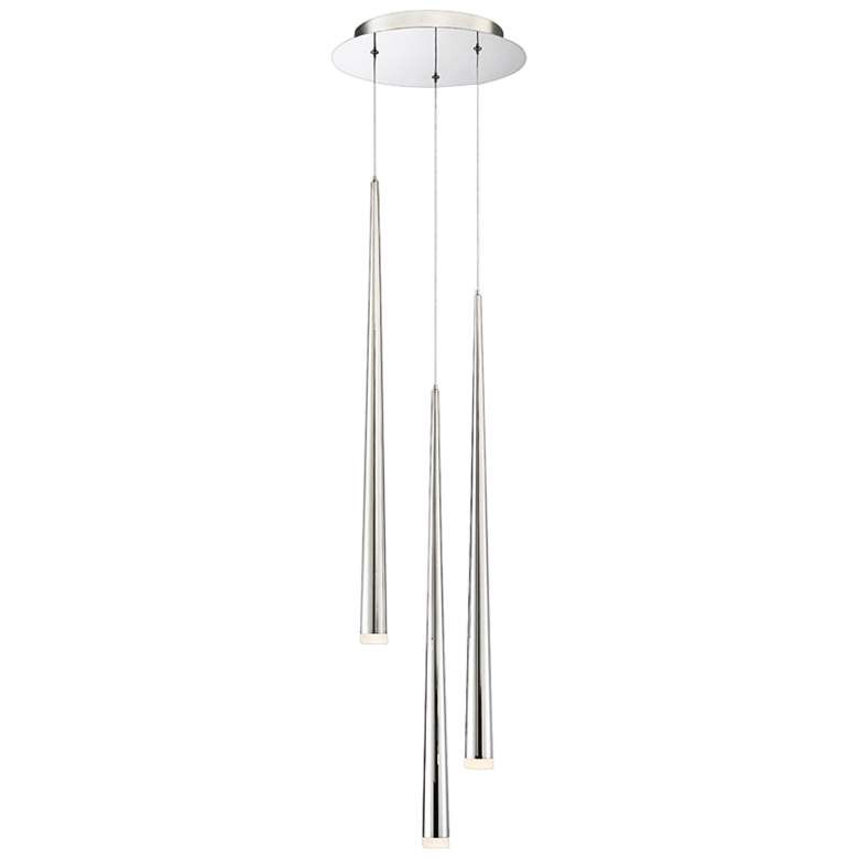 "Cascade 12""W Nickel w/ Frosted Glass LED Multi"