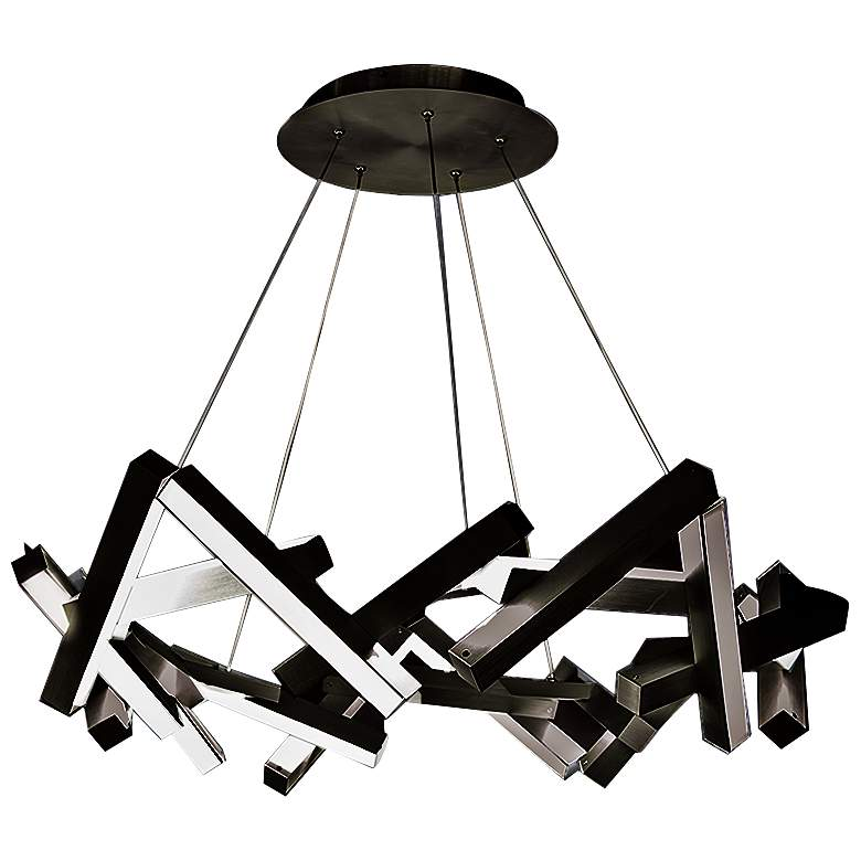 """Modern Forms Chaos 34"""" Wide Black 21-Light LED Chandelier"""
