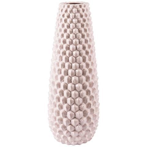 """Zuo Roco Pink 20 1/4"""" High Large Ceramic Vase"""