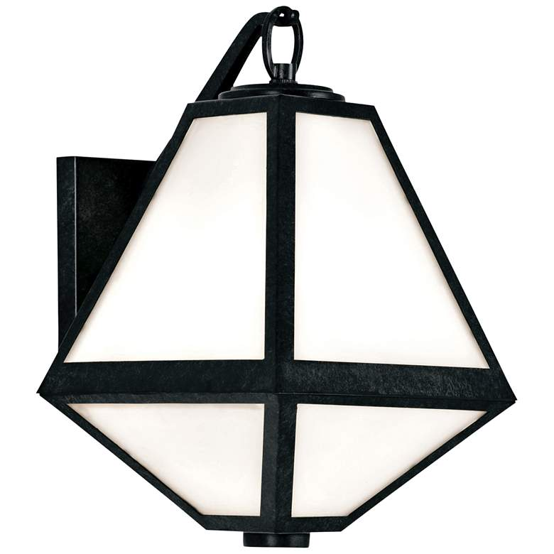 "Crystorama Glacier 13""H Black Charcoal Outdoor Wall Light"