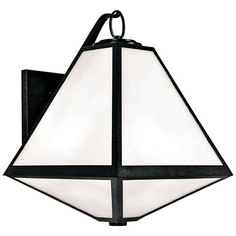 "Crystorama Glacier 21""H Black Charcoal Outdoor Wall Light"