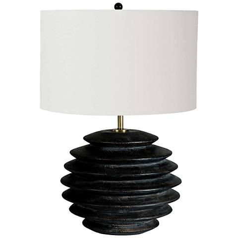 Regina Andrew Design Accordion Round Ebony Table Lamp