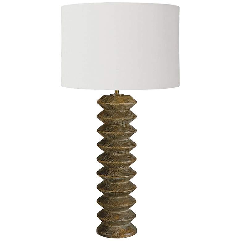 Regina Andrew Accordion Natural Wood Table Lamp
