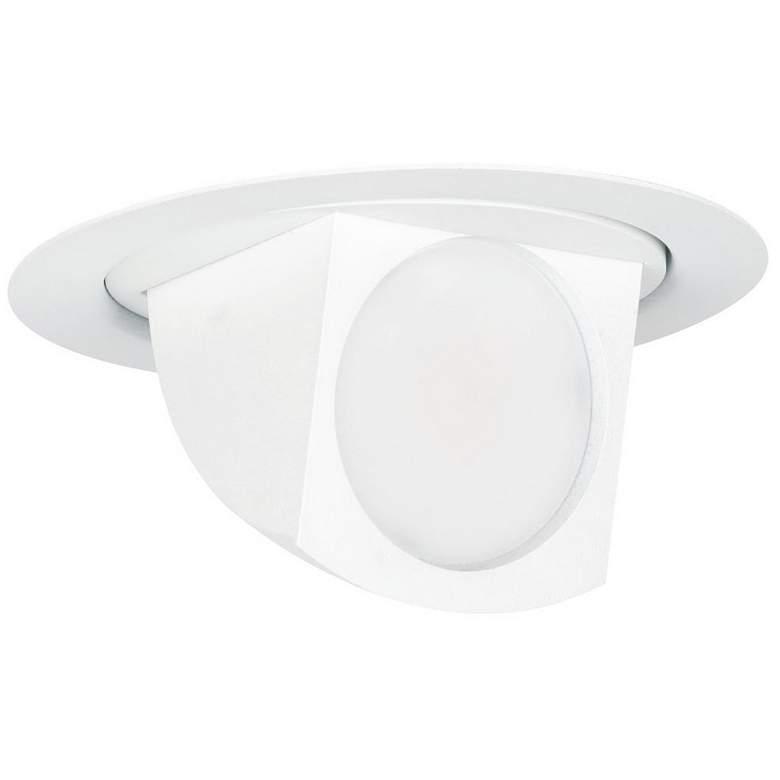 "4"" White Pivot Dropdown Adjustable 9.5W LED Retrofit Trim"