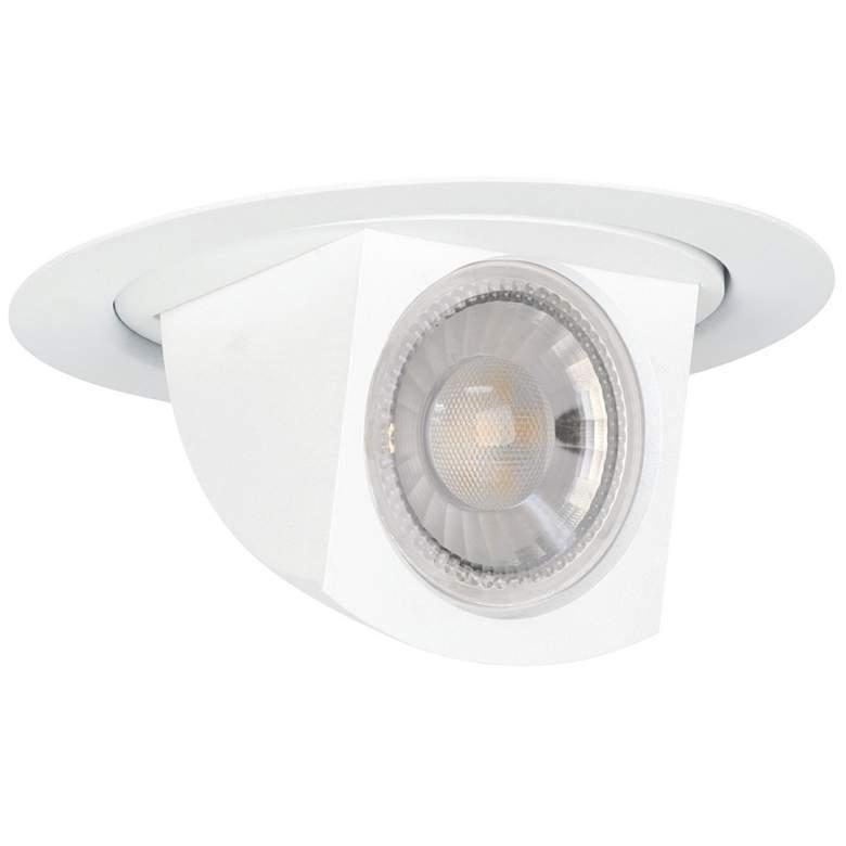 """4"""" White Pivot Dropdown Spot 9.5W LED Retrofit Trim"""
