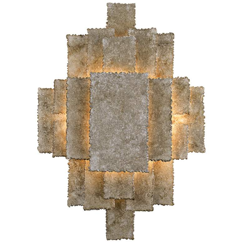 "Crystorama Bronson 16 1/2"" High Oxidized Silver Wall Sconce"